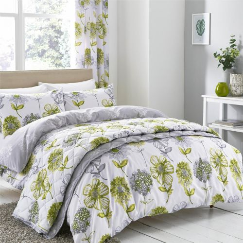 Catherine Lansfield Banbury Floral Green Bedding Set